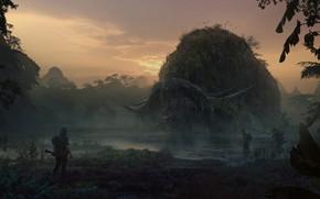 Картинка Concept art, Kong: Skull Island, Конг: Остров черепа, Valentin Petrov, Шхерный буйвол, Sker Buffalo