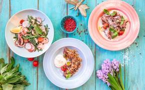 Картинка цветы, еда, Ассорти, салаты