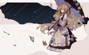 Картинка девушка, зонт, Touhou, Тохо, Тоухоу