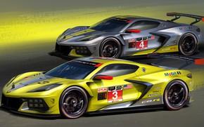 Картинка Corvette, Chevrolet, 2020, C8.R