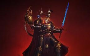 Картинка Минимализм, Игра, Стиль, Воин, Солдат, Fantasy, Horus Heresy, Warhammer 40000, Арт, Art, Warrior, Фантастика, Warhammer …