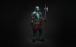 Картинка Минимализм, Доспехи, Воин, Арт, Art, Warrior, Knight, Minimalism, Armor, Character, Max Yenin, Medieval knight, by …