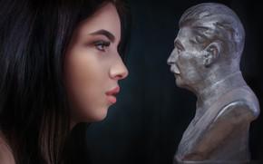 Картинка портрет, профиль, бюст, Сталин, Alexander Drobkov-Light, Ангелина Сорокина