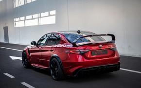 Картинка крыло, Alfa Romeo, Giulia, GTAm, 2020, Gran Turismo Alleggerita modificata