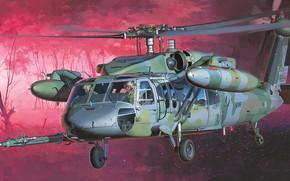 Картинка ВВС США, Sikorsky, Night Hawk, ночная модификация вертолёта, НН-60D