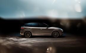 Картинка Porsche, вид сбоку, Turbo, 2018, Cayenne, TechArt