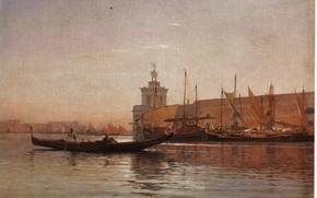 Картинка лодки, CALAME, PUNTA DELA SALUTE, VENEZIA