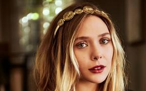 Картинка глаза, взгляд, девушка, лицо, портрет, актриса, Elizabeth Olsen