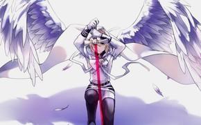 Картинка ангел, арт, вампир, Микаэла, Owari no Seraph, последний серафим