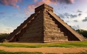 Картинка Мексика, Чичен-Ица, пирамида Кукулькана
