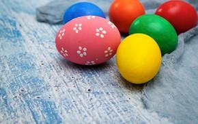 Картинка праздник, яйца, пасха, ткань