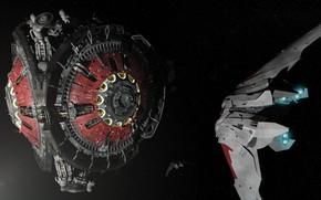 Картинка космос, станция, база, аппарат, Beyond Human