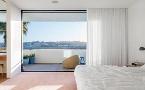 Картинка интерьер, балкон, спальня, Australia, Sydney, House In North Bondi Cheap