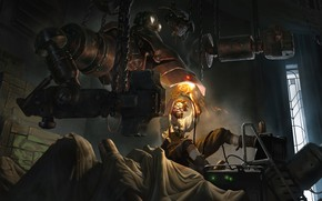 Картинка робот, мужик, техник, Legends of Runeterra