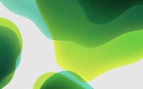 Картинка green, white, background, iOS 13