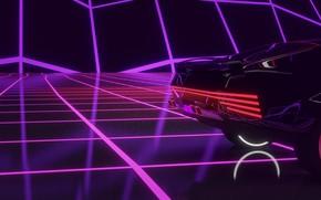 Картинка Авто, Музыка, Машина, Фон, Cyberpunk 2077, Cyberpunk, Synth, Retrowave, Synthwave, New Retro Wave, Futuresynth, Синтвейв, …