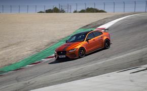 Картинка оранжевый, движение, Jaguar, 2018, XE SV Project 8