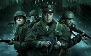 Картинка cinema, gun, Overlord, soldier, weapon, war, man, movie, film, ww2, helmet, uniform, kabuto