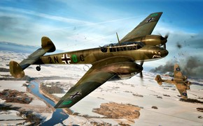 Картинка Messerschmitt, Bf-110, Zerstörer, Тяжёлый истребитель, Bf.110C-1, Zerstörergeschwader 1