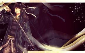 Картинка меч, парень, Gintama, Гинтама