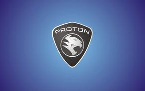Картинка голубой, лого, logo, blue, fon, протон, proton