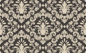 Картинка текстура, орнамент, background, pattern, Vector, seamless, damask, сlassica