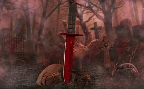 Картинка counter strike global offensive, cs go, slaughter, m9 bayonet, crimson web