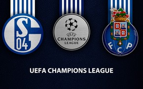 Картинка wallpaper, sport, logo, football, Schalke 04, UEFA Champions League, Porto, Schalke 04 vs Porto