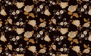 Картинка цветы, фон, розы, коричневый