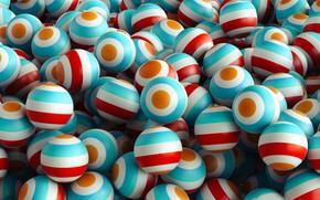 Картинка шарики, полосы, краски, текстура