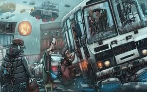 Картинка юмор, cyberpunk, Россия будущего, фантасника