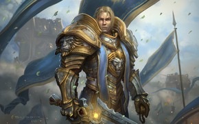 Картинка Warcraft, Blizzard, Illustration, Eric Braddock, Characters, Alliance, Game Art, World of WarCraft, by Eric Braddock, …