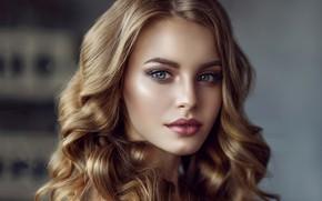 Обои глаза, взгляд, девушка, лицо, фото, милая, волосы, локоны