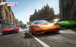 Картинка McLaren, Microsoft, game, суперкары, 2018, McLaren F1, 570S, 720S, E3 2018, Forza Horizon 4