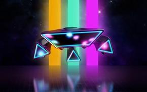Картинка Фон, Neon, 80's, Synth, Retrowave, Synthwave, New Retro Wave, Futuresynth, Синтвейв, Ретровейв, Outrun, NeonDrive