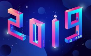 Картинка лампа, Новый год, New Year, 2019