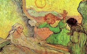 Картинка Vincent van Gogh, The Raising, of Lazarus after Rembrandt