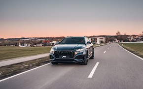 Картинка Audi, вечер, Германия, кроссовер, ABT, 2020, RS Q8