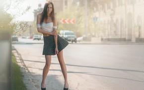 Картинка девушка, улица, юбка, Alexander Drobkov-Light, Nelya