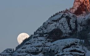 Картинка горы, скала, Луна, США, Йеллоустонский национальный парк