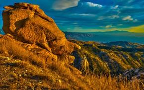 Картинка облака, горы, скалы, Аризона, США