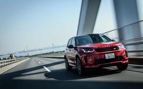 Картинка дорога, скорость, Land Rover, JP-spec, L550, 2020, Discovery Sport, D180 SE R-Dynamic