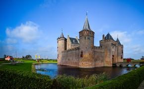 Картинка замок, Нидерланды, Голландия, Muiden Castle