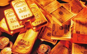 Картинка деньги, монеты, слитки