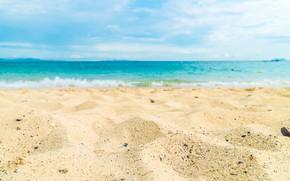 Картинка песок, море, волны, пляж, лето, summer, beach, sea, blue, sand, wave