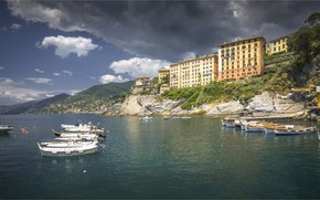 Картинка море, побережье, Италия, Лигурия, Liguria, Камольи