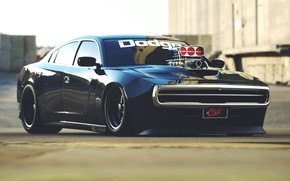 Картинка Авто, Черный, Charger, Dodge Charger, Рендеринг, R/T, Muscle Car, Dodge Charger R/T, Transport & Vehicles, …