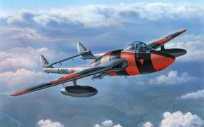 Картинка airplane, aviation, jet, De Haviland Vampire