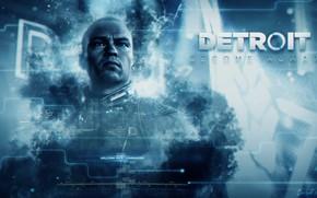 Картинка синий, игра, game, андроид, android, blue, лидер, Detroit, Детройт, Detroit Become Human, Маркус, Markus, deviant, …