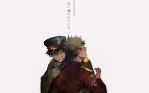 Картинка парни, униформа, My Hero Academia, Boku No Hero Academia, Мидория Изуку, Моя Геройская Академия, Бакуго …